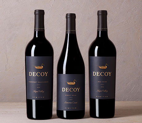 Three bottles of decoy limited
