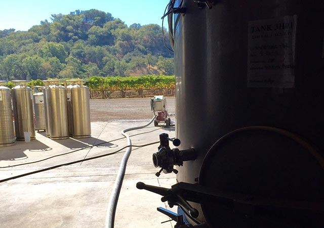 view from winemaking