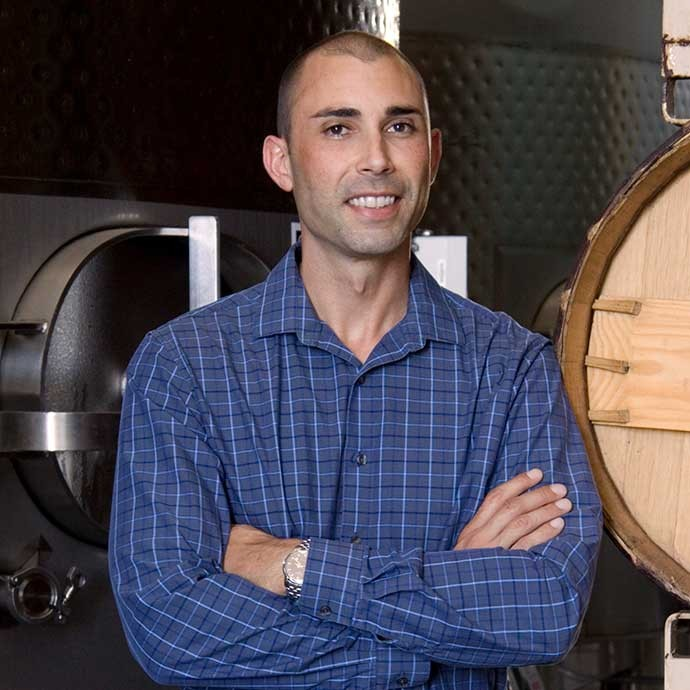 Winemaker Tyson Wolf at Decoy facility