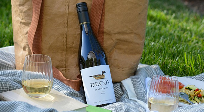 Decoy on a blanket for a picnic