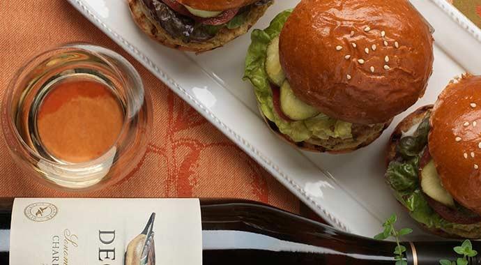 Veggie Burgers with Chardonnay